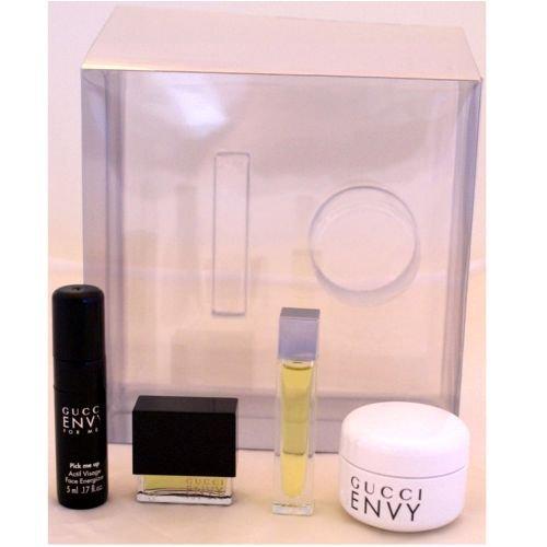 Gucci Envy Set Envy Femme Envy 3 ml Parfum pur + 15 ml Crème Corps la Corps + Envy Man 3 ml EDT + 5 ml Visage Visage Energizer