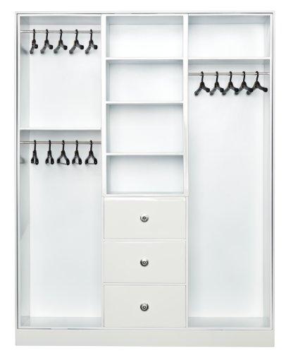 Barbie Y3354 - Armoire à vêtements et accessoires, couleur blanc