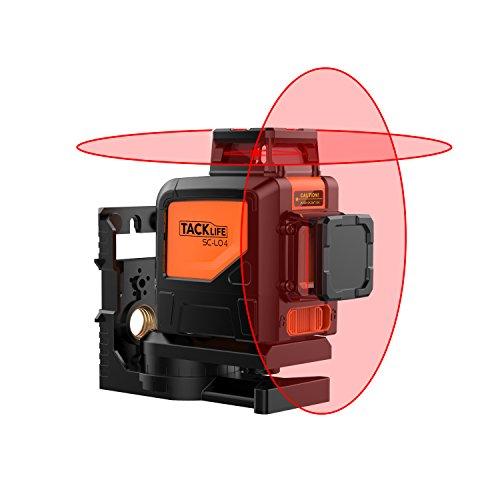 Niveau laser automatique 360ºx2, Tacklife SC-L04, 30M, Inclinaison, Auto-nivellement vertical et horizontal 360, IP 54, avec sac de protection, support magnétique rotatif, etc.