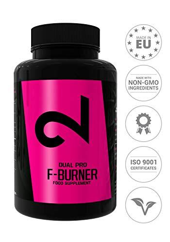 DUAL Pro Fat-Burner|Slimming Without Sport|Brûleur de graisse pour femmes et hommes|Supplément alimentaire pour perte de poids|100 capsules sans additifs, 100% naturel, végétalien et sans gluten|UE