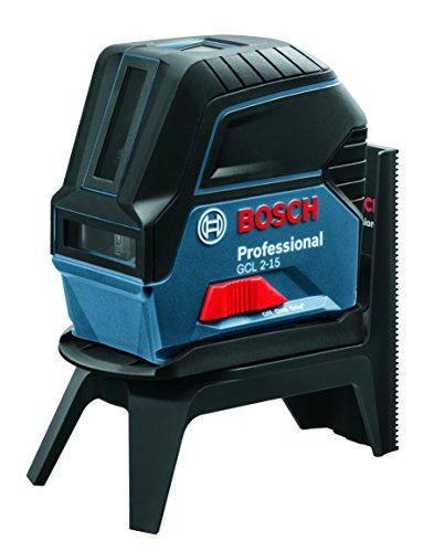 Bosch Professional GCL 2-15 - Niveau laser (portée 15m, projection 2 lignes /2 points, plaque réflecteur, support pivotant RM 1, en boîte)