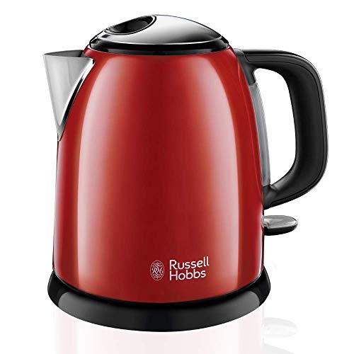 Russell Hobbs Colours Plus - Petite bouilloire électrique (2400W, bouilloire 1L, Acier inoxydable, Rouge)-ref. 24992-70