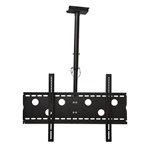 TradeMount Support de fixation au plafond pour moniteur en noir Extensible de 57 cm à 80 cm réglable, inclinable à 20° orientable sur 360° pour LG 77' OLED77C9PLA