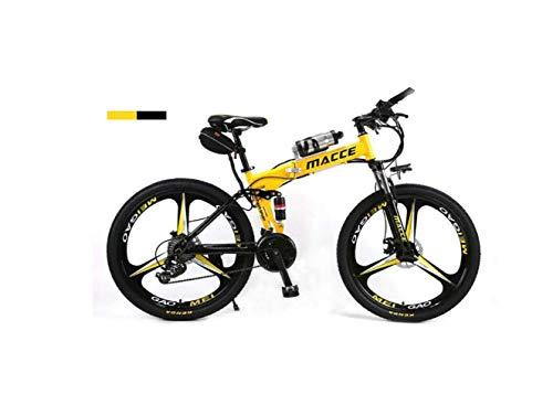 Vélo de montagne Suspension unisexe Vélo de montagne Double Vélo de montagne 26'Integral Wheel Vélo électrique en acier à haute teneur en carbone Vélo hybride à pédale assistée Vélo pliable avec batterie ionique