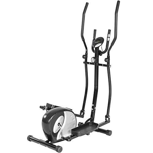 TecTake 401075 Vélo elliptique en aluminium, LCD Console pour rotule, entraînement physique, charge maximale 100 kg