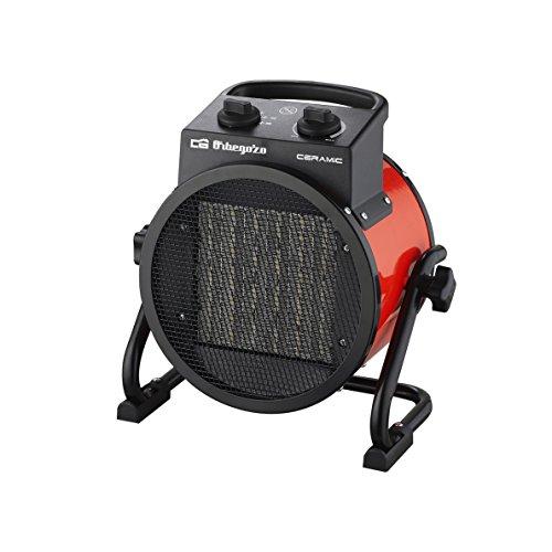 Orbegozo FHR 3050 Réchauffeur professionnel en céramique avec 2 puissances de chauffage, 3000 W, noir/rouge