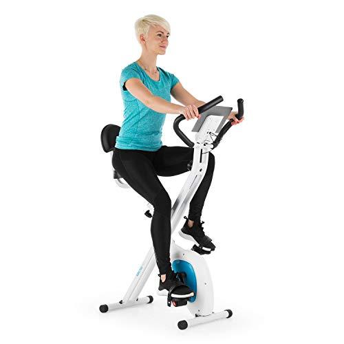 Klarfit X-Bike X-Bike XBK700 Pro - Vélo d'exercice - Vélo cardio fixe - Ergomètre - Ordinateur d'entraînement - Moniteur de fréquence cardiaque - Pliable - Selle ergonomique - Pédales antidérapantes - Black-Orange