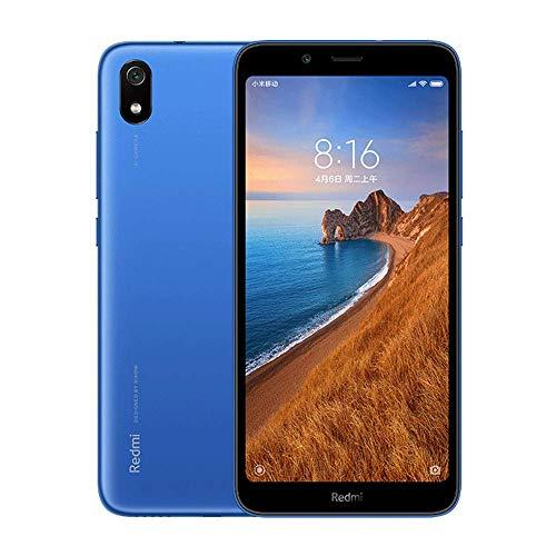 Xiaomi Redmi 7A Smartphone, 2 Go de RAM RAM 16 Go ROM Double SIM 5,45'' Plein écran, processeur Qualcomm Snapdragon SDM439 Octa-Core, grande source, caméra arrière 13 Mpx Caméra avant 5 Mpx (bleue)