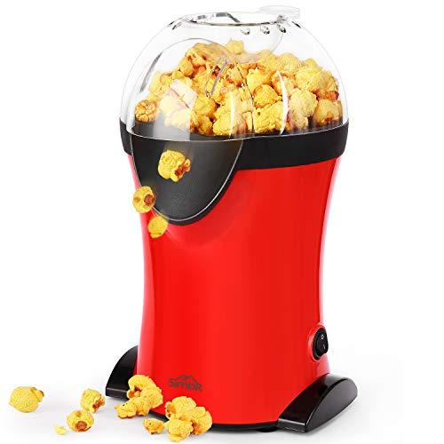 SIMBR Machine à maïs soufflé 1200W Popcorn Machine Machine à maïs soufflé avec une vitesse maximale de 3 min Pop Maïs sans graisse ou sans huile BPA certifié par CE, FDA et RoHS