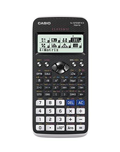 Casio FX-570SPXII-S-ET - Calculatrice scientifique (576 fonctions), couleur noir/blanc