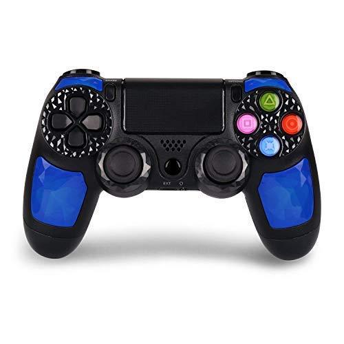 Manette sans fil HQD PS4 pour PlayStation 4 High Quality Diamond avec DoubleShock 4 et 1 000 mAh batterie au lithium. Compatible avec Play4/Slim/Pro, Windows PC et PS TV/SMART TV Color Blue