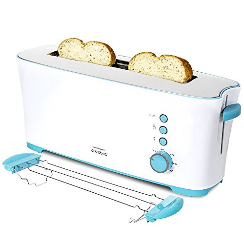 Grille-pain Cecotec 3027, blanc/bleu