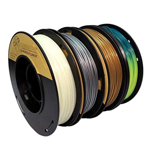 PLA 1.75mm 4x250g or/argent/phosphorescent/thermochromique - Filament pour imprimante 3D - FrontierFila