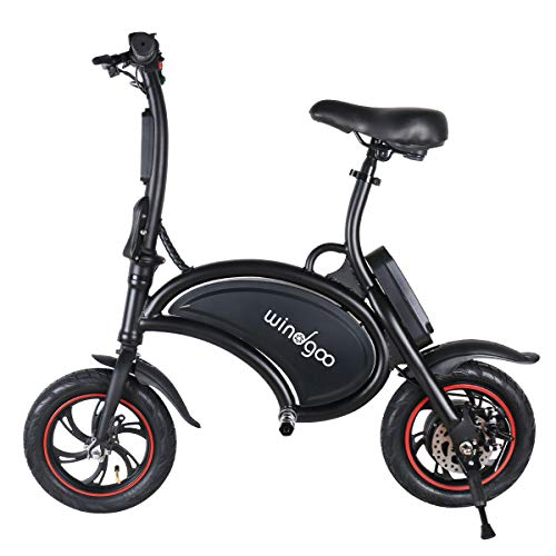 Bicyclette électrique pliante Windgoo 12' Wheels,4400-36v Lithium Batterie,Vélo adulte (B15-Black)