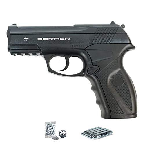 Borner C11 | Pack Gun Balls (BB's Steel Ball pellets). Pistolet à air tablette CO2 calibre 4.5mm
