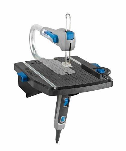 Dremel Moto-Scie MS20-1/5 - Scie sauteuse stationnaire (70 W, 1 extension, 5 accessoires)
