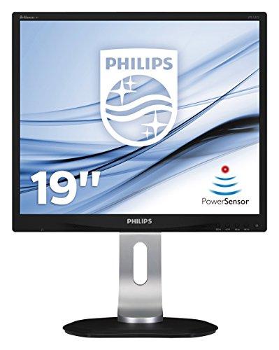 Moniteurs Philips 19P4QYEB/00 - Moniteur 19' (résolution 1280 x 1024 pixels, technologie WLED, contraste 1000:1, 5 ms, VGA), couleur noire