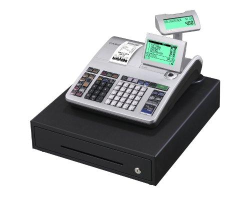 Casio SE-S400MB-SR GDPdU - Caisse enregistreuse (10 lignes à l'écran), argent et noir