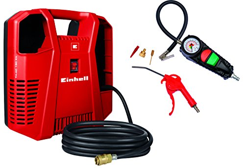 Compresseur Einhell TH-AC 190 Kit (1.100W, puissance d'aspiration : 190 l/min, pression de service maximale : 8bar)
