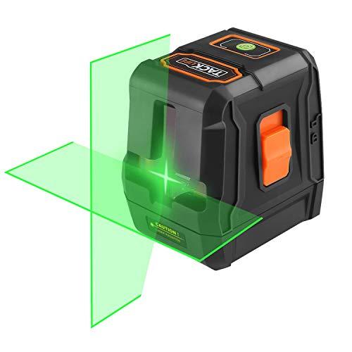 Niveau laser, planeuse niveleuse automatique Tacklife, laser de ligne automatique 110° horizontal/vertical, IP54, récepteur laser, un pied magnétique (SC-L07G)
