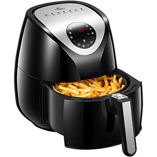 Friteuse sans huile Tidylife, friteuse à air de 3,5 L avec 7 programmes automatiques préréglés, friteuse AF-1834A2 avec livre de cuisine, 1500 W, panier antiadhésif, arrêt automatique, sans BPA