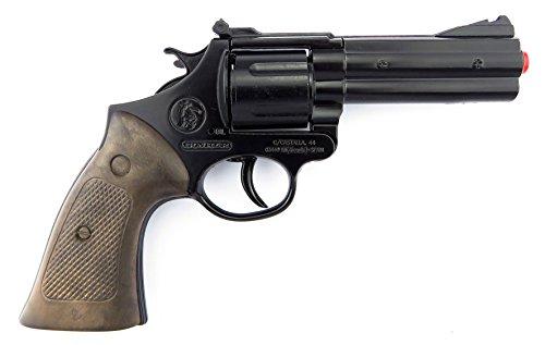 Gonher Die Cast Metal - Revolver de police à 12 coups, noir (127/6)