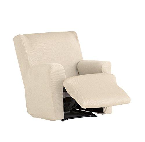 Eysa Ulises - Housse de repose-pied élastique pour fauteuil, couleur écru