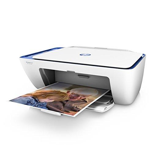 HP Deskjet 2630 - Imprimante multifonction sans fil (encre, Wi-Fi, copie, numérisation, 600 x 300 PPP, y compris 3 mois d'encre instantanée HP) couleur blanc et bleu