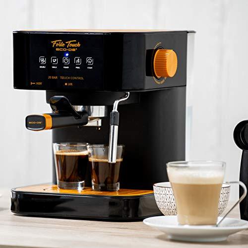 Cafetière ECODE Espresso Forte Touch, 20 Bar, écran tactile, structure en acier inoxydable, buse mousse Capuccinatore, 1.6 litres, Express, 1050 Watts ECO-420