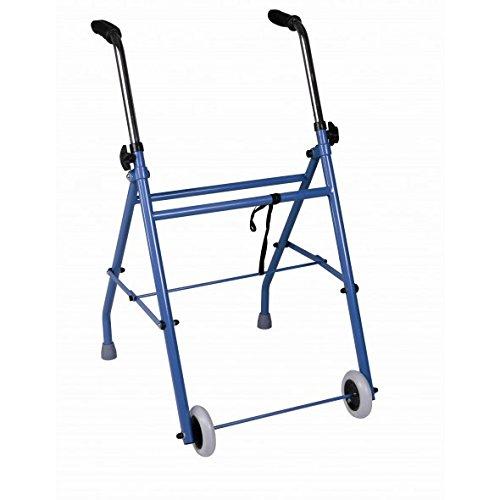 Marchette pliante à deux roues en acier pour adultes