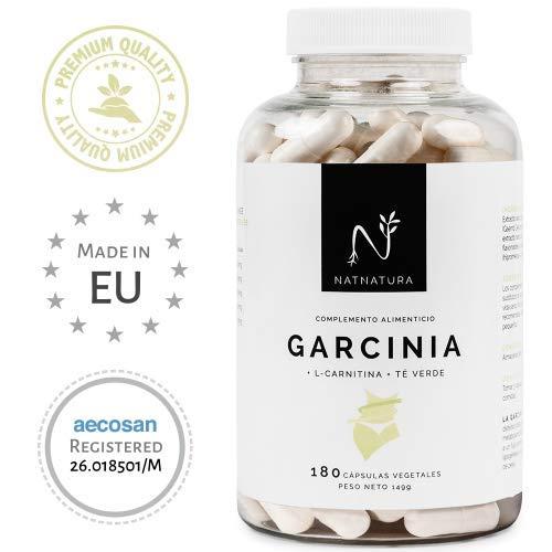 Brûleur de graisse naturel à base de Garcinia Cambogia+L-Carnitine+ Thé Vert, la meilleure formule de brûleur de graisse pour perdre du poids, qualité maximale et efficacité. Formule avec une concentration élevée de 60% de HCA. 180 gélules.