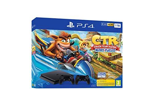 PlayStation 4 (PS4) - Console, 1 To, Couleur Noir + Crash Team Racing