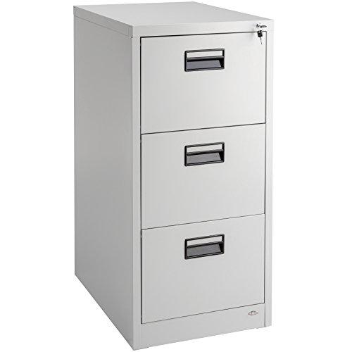 TecTake 402487 - Classeur de bureau, en acier avec 2 clés, 3 tiroirs pour classeurs A4