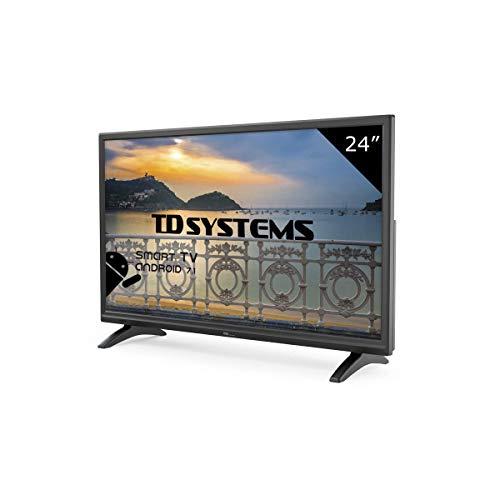 Systèmes TD K24DLMM8HS - Téléviseur DEL intelligent HD 24 pouces, résolution 1366 x 768, HDMI, VGA, 2X USB, téléviseur intelligent.
