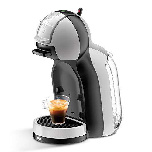 Krups Mini Me KP123B - Cafetière (Autonome, Machine à Espresso, 0.8 L, Capsule de café, 1500 W, Noir, Argent)