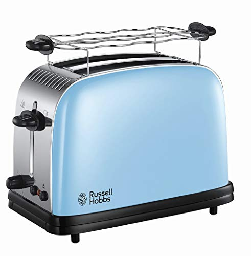 Russell Hobbs - Grille-pain pour 2 tranches, fentes larges, rôti rapide, fonction lift and view, acier inoxydable