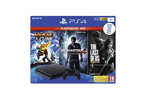 Playstation 4 (PS4) - Console 1 To + Ratchet & Clank + The Last of Us + Uncharted 4