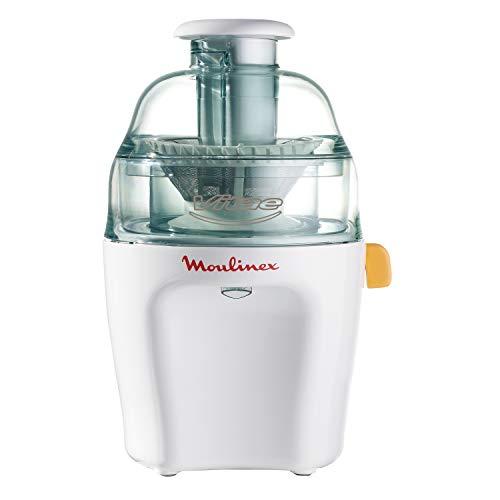 Moulinex Vitae JU200045 - Liquidateurs pour légumes et fruits, 200 W, vitesse 12.800 tr/min, couvercle et récipient de pulpe transparent, extracteur de jus avec lave-vaisselle compatible filtre en acier inoxydable