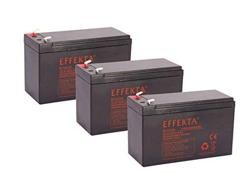 Batterie compatible pour draisin vélos électriques Scooter Crosser Tandem 36 V, 3 x 12 V 9,5 Ah