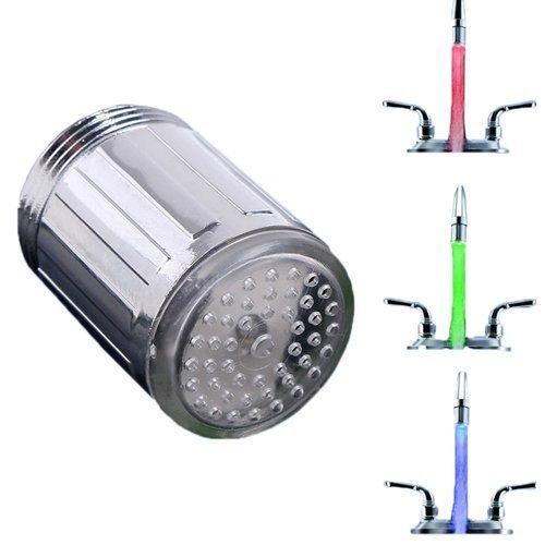 - Lumière LED évier évier robinet d'eau Température et robinet d'aérateur