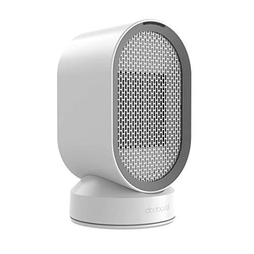 dodocool Mini Ventilateur électrique/Chauffage électrique basse consommation, Ventilateur en céramique PTC portable, Chauffage d'air froid et chaud, Oscillation automatique
