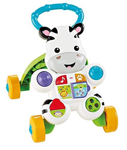 Fisher-Price Talking Zebra Premiers pas, bébé coureurs +6 mois (Mattel DLD84)