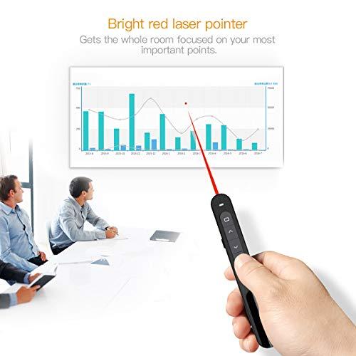 Manette sans fil, manette sans fil Doosl pour présentation Powerpoint avec pointeur, alimenté par 1 pile AAA.