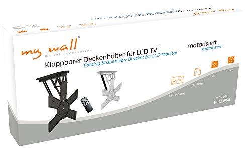MyWall hl12wml Support de plafond pliable et motorisé pour téléviseurs, 23 - 55 pouces (58 - 140 cm), jusqu'à 30 kg couleur blanc