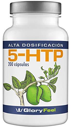 5HTP 200 gélules à dosage élevé - 5-HTP Vegan - 200 mg d'extrait de graine de griffonia Simplicifolia original - 5HTP gélules - GloryFeel Premium Supplement