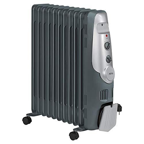 AEG RA 5522 - Radiateur à huile, 2200 W, 11 éléments, thermostat, 3 niveaux de puissance, régulateur de puissance pour basse consommation.