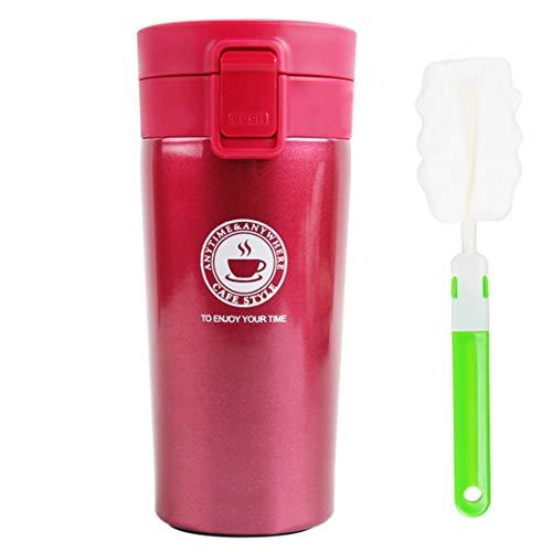 Thermal Glass Thermal Coffee Thermal Thermo Mug Mug Mug Bouteille en acier inoxydable Car Coffee Water Thermos Thermos Thermos Thermal Coffee Hermetic (Pink)