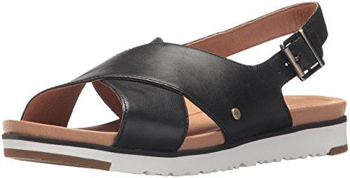 UGG Women's Kamile - Sandale plate, noire, 7.5 M US