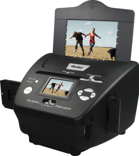 Rollei PDF-S 240 SE - Multiscanner 5,1 mégapixels pour diapositives, négatifs et photos, avec logiciel de retouche d'images, noir