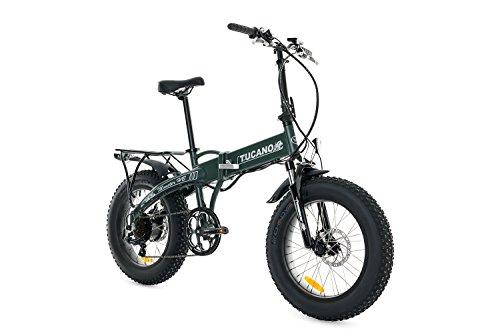 Vélos Tucano Monster HB Vélo pliant électrique, vert (mat), taille unique
